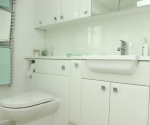 Gloss White bathroom cabinets