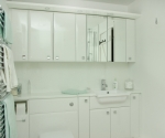 Gloss White Mirrored bathroom cabinets