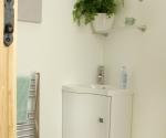 Oslo White Corner Cabinet