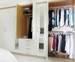 Ascot Oyster wardrobe with double hanging