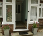 porch with upvc door and windows